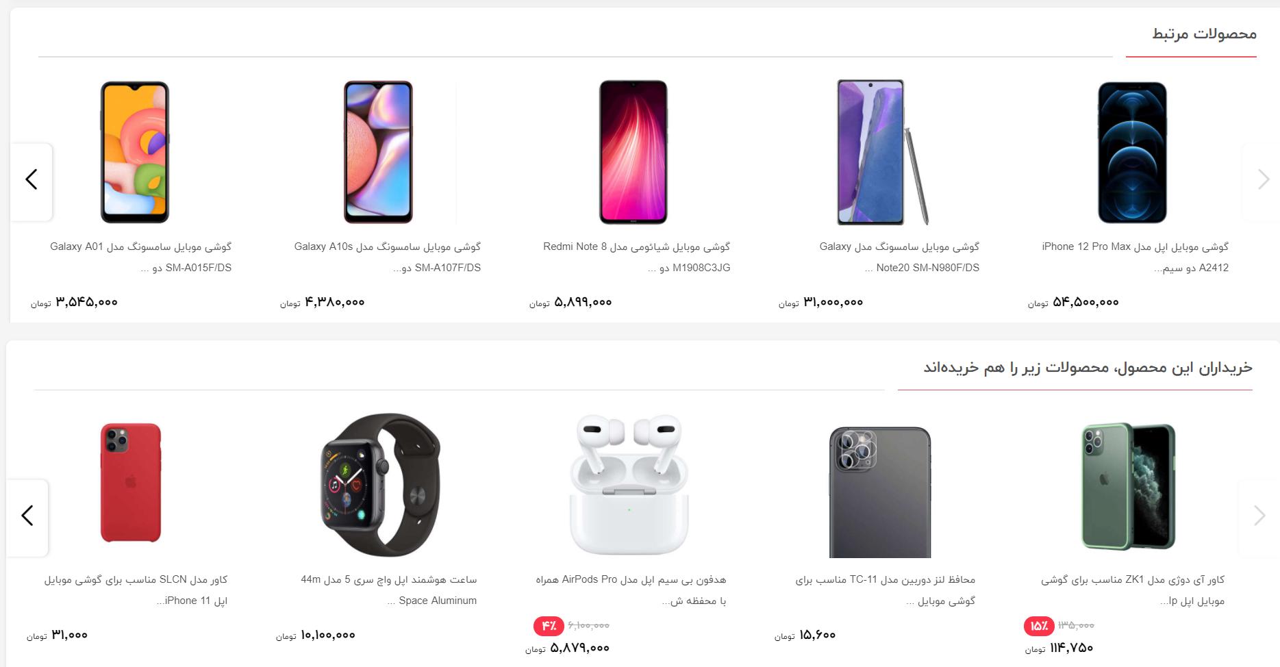 پیشنهاد محصولات مناسب به مشتری برای خرید