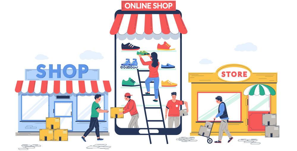 فروش اینترنتی در مقابل فروش سنتی