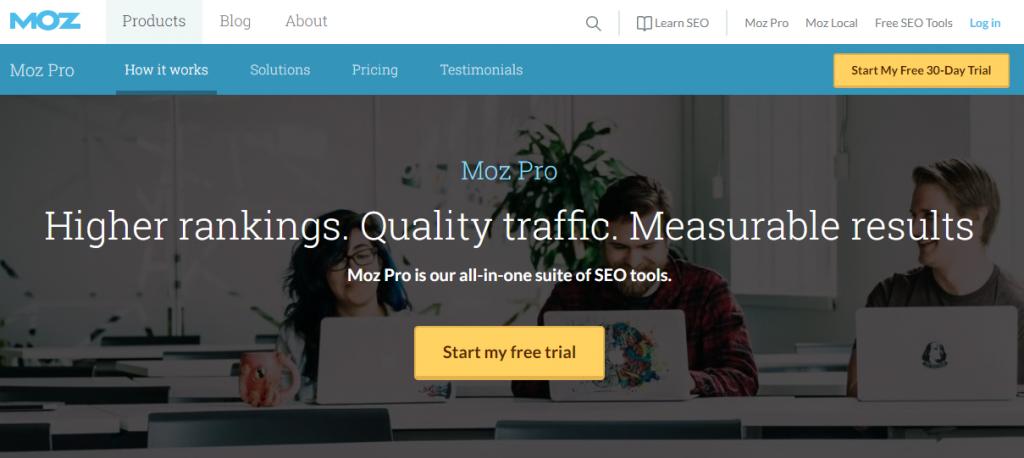 لندینگ پیج سایت MOZ