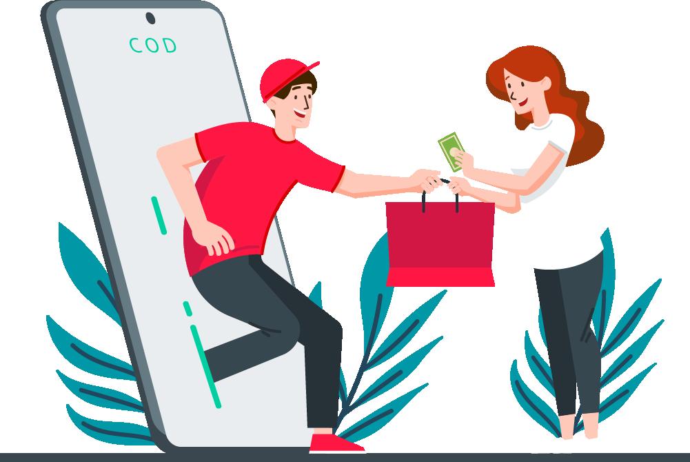 ارسال سریع کالاها برای مشتریان فروشگاه
